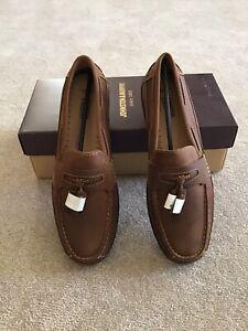 New J& M(Johnston & Murphy)Fowler Tassel Casual Loafers Light Tan, Size 10 1/2 M