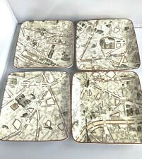 Paris Street Appetizer Dessert Plates Set of 4