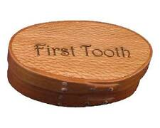 Shaker Memories First Tooth Box with Cherry Bands and Lacewood Top; Lacquer Fini