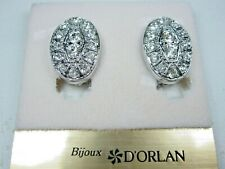 Swarovski Crystals - 1868 D'Orlan Rhodium Plated Clip-on Earrings