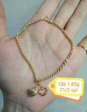Gold Authentic 18k gold bracelet with heart double, opeg