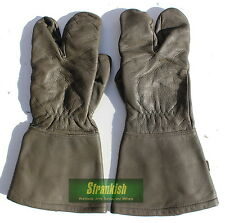 GENUINE GERMAN ARMY MOTOR BIKE QUAD BIKE GLOVES LEATHER SIZE SMALL