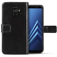 Samsung Galaxy A8 / A8 Plus Case Genuine Leather Folio Photo ID Wallet Cover
