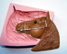 Grandi Equestre Horse head Gomma in silicone stampo compleanno glassa FIMO CAKE