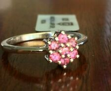 0.30cts Natural Pink Tourmaline Sterling Silver Ring Size 8