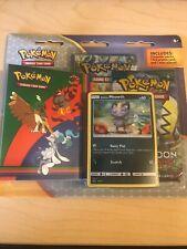 Pokemon Alolan Meowth SM51 Promo Blister Pack w/2 boosters and mini card album