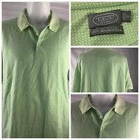 Talbots Polo Short Shirt Green XL 100% Mercerized Cotton SS EUC YGI W86