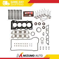 Head Gasket Set Intake Exhaust Valves Fit 00-06 Toyota Pontiac 1.8L DOHC 2ZZGE