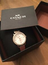 Coach Delancey Gold Tone Stainless Steel Bangle Bracelet  Watch 14502696  NWT