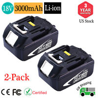 2x New Battery For Makita 18V Batteries BL1830-2 18 Volt 3.0AH LXT BL1830 BL1850