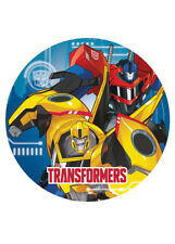 8pk Transformers Optimus Prime Bumblebee Robots Paper Party Plates 23cm