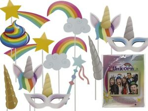 Unicorn Party Photo Booth Props Kit Kids Fun Party Hen Wedding Accessories