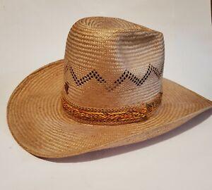 """Bailey U-Rollit """"New West"""" Straw Western Hat 7 3/8"""