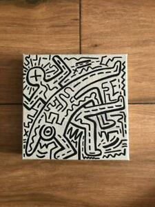 Acrylic painting (2 People) by Keith Haring