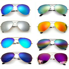 Aviator Sunglasses Unisex Mirrored Classic UV400 Shades Men Ladies Fashion Gift