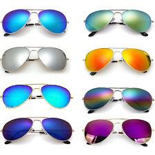 Pilot Aviator Sunglasses Unisex Mirrored Classic UV400 Shades Men Ladies Fashion