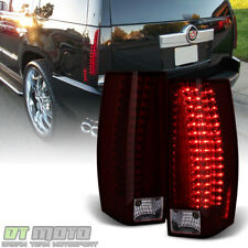 Red Smoke 2007-2014 Cadillac Escalade LED Tail Lights Lamps 07-14 Left+Right