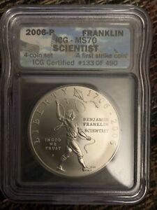 2006-P $1 Ben Franklin Scientist Silver Dollar ICG MS70 First Strike