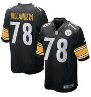 30f7ba3be Men s Pittsburgh Steelers Alejandro Villanueva Nike Black Game Jersey NFL