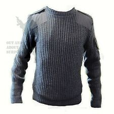 RAF Army Jumper British Sweater Surplus Military Cadet Pullover Blue Wool