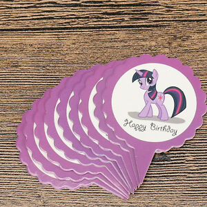 MY LITTLE PONY CUPCAKE TOPPERS 12 PCS PURPLE / PARTY SUPPLIES/ BIRTHDAY KIDS