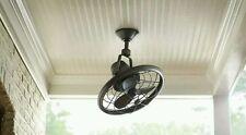 "Bentley II 18"" Tarnished Bronze Outdoor Oscillating Ceiling Fan Wall Control NEW"