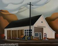 Don Bergland HAGENSBORG GARAGE 24x30 Original Painting Canadian Listed Artist