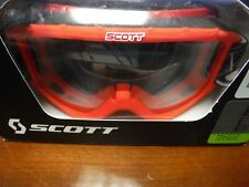 SCOTT 89SI YOUTH SNOCROSS GOGGLE RED With Clear Lens (BRAND NEW)