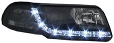 AUDI A4 (1999-2000) Noir drl devil angel eyes feux phares avant-Paire