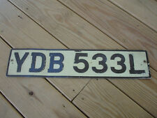 RARE White Black YDB 533L Car Automotive License Plate
