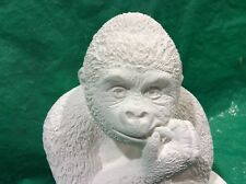 LATEX ONLY MOULD GORILLA EATING BAMBOO SHOOTS 30CM TALL ORNAMENT MOULD
