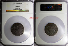 Sweden Cristina 1646 Ore Ngc Xf40 Bn Top Graded ! Oversize Slab ! Km# 162.2