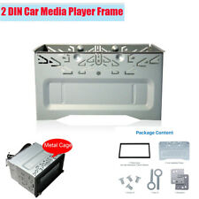 2 DIN Metal Fascia Mounting Cage Dash Kit for Car Radio DVD Multimedia Player