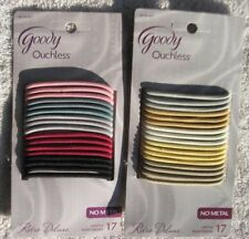 17 Goody Ouchless Retro Deluxe Elastic Hair Band Ponytailers White Light Dark