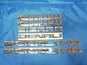 6PC Set 11-19 CHROME GMC Sierra Denali Duramax 2500HD 3500HD Emblem Letters
