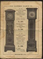 VINTAGE THE EASTERN WATCH CO. THE HORNBY WATCHES PRICE LIST /CATALOG  #2808