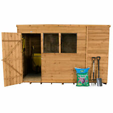 Forest 10x6 Treated Pent Roof Timber Garden Workshop Outdoor Shed