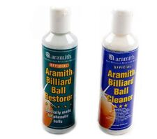 Aramith Snooker Billiards or Pool Balls Cleaner and Restorer 2 x Bottles Kit