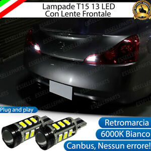 COPPIA LAMPADE RETROMARCIA HYUNDAI GENESIS 13 LED T15 W16W CANBUS NO ERROR 6000K