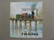 GUINEA, S/S MNH 1996, railway steamtrain the General 1862