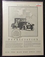 """1924 PACKARD Ask A Man Who Owns One 10.5x14"""" Automobile B/W Print Ad FN+ 6.5"""