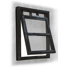 Pillar Products 202 x 254mm Medium Flyscreen Pet Door/Magnetic Closure Black