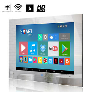 Haocrown Touch Screen 22 inch Bathroom Smart Mirror TV Android 9.0 System IP66