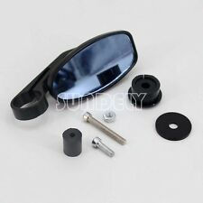 "Universal Motor bike Bar End Rear View Mirrors 7/8"" Pair Motorcycle Cycle Black"