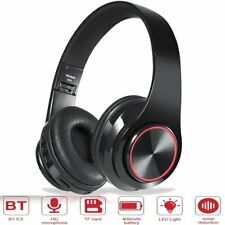 Bluetooth 5.0 Wireless Led Headphones Over Ear Stereo Noise Cancelling Headset