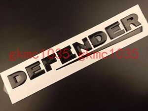 Land Rover DEFENDER FRONT & REAR GLOSS BLACK 3D Lettering Badge Emblem 90 110