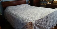Queen Size Light weight Bedspread-Blue & White Floral