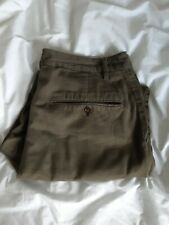 Universal Works Pleated Pants in Military Olive - Size 32W