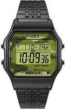 Orologio Timex 80 TW2P67100 Vintage acciaio nero fondo camo digitale militare