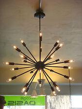 OIL RUBBED BRONZE ATOMIC SPUTNIK STARBURST LIGHT FIXTURE CHANDELIER PENDANT LAMP